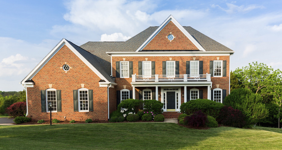traditional home in Charlottesville